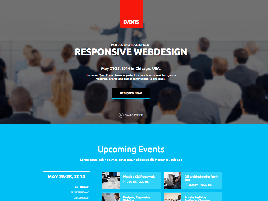 Events - Conference and Festival WordPress Theme